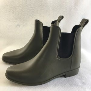Women's Rain Boots Olive Green Easy Pull On New